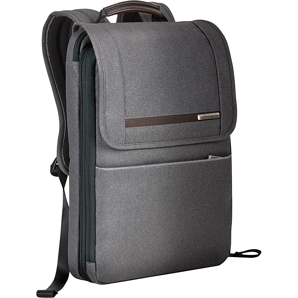 Briggs & Riley Kinzie Street Flapover Expandable Backpack Grey - Briggs & Riley Laptop Backpacks