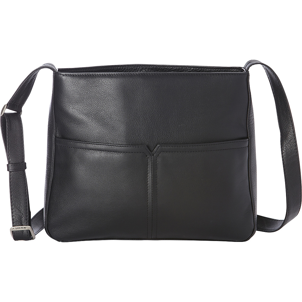 Derek Alexander Large Inset Top Zip, Adjustable Strap Black - Derek Alexander Leather Handbags - Handbags, Leather Handbags