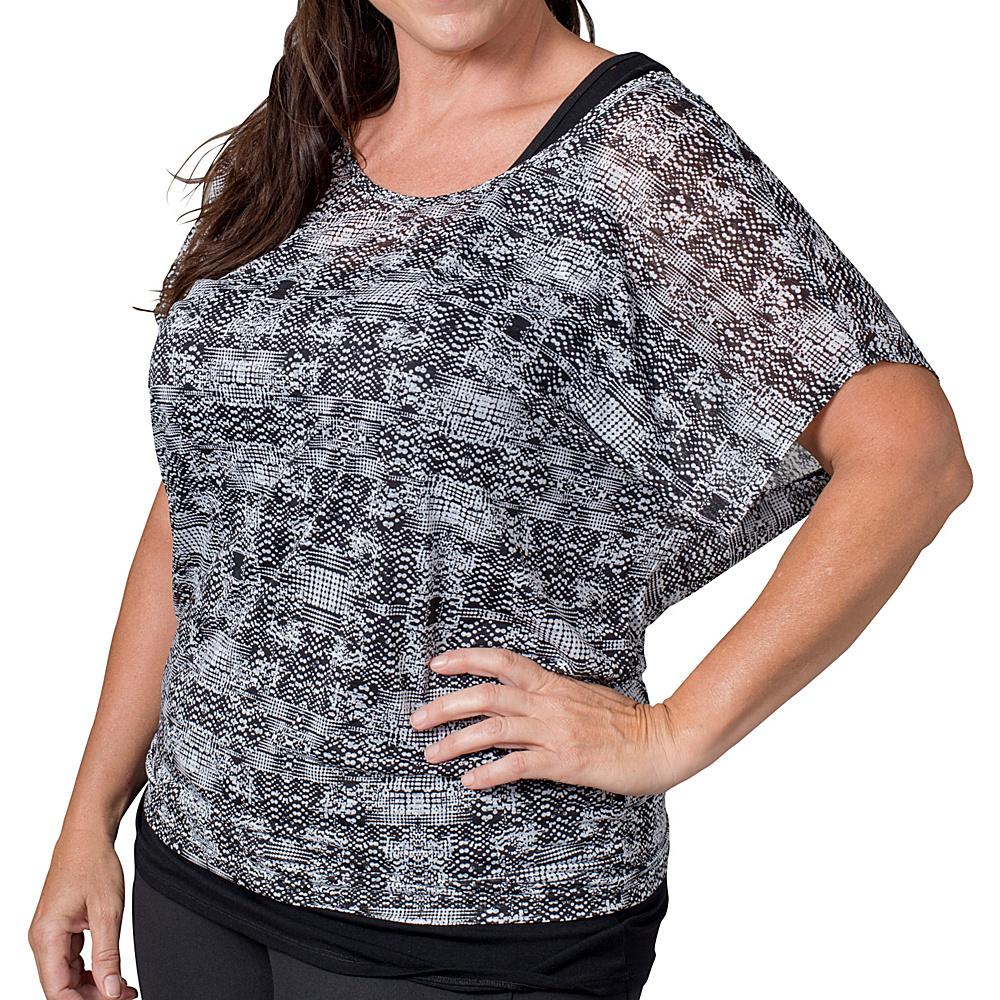 Soybu Camryn Tee - Plus Size 2XL - Black Mirage - Soybu Womens Apparel - Apparel & Footwear, Women's Apparel