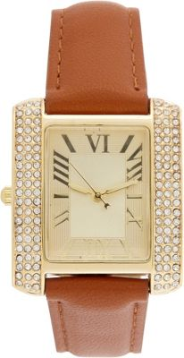 Samoe Band Watch Tan with Gold Square Face - Samoe Watches