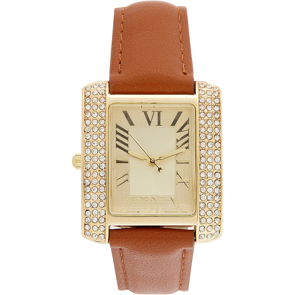 Samoe Band Watch Tan with Gold Square Face Samoe Watches