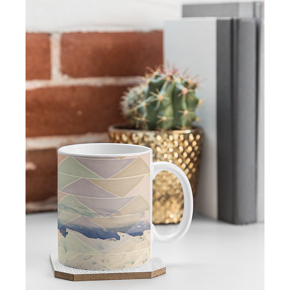 DENY Designs Maybe Sparrow Photography Coffee Mug Ice Blue Geometric Alaska DENY Designs Outdoor Accessories