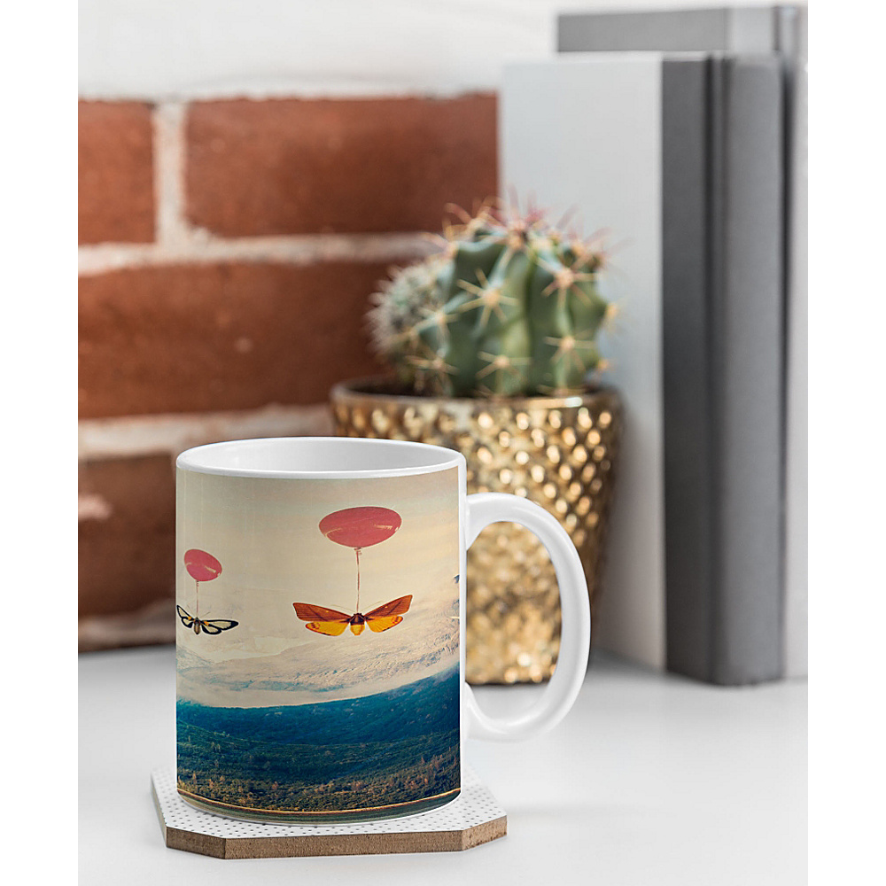 DENY Designs Maybe Sparrow Photography Coffee Mug Bright Red Passage DENY Designs Outdoor Accessories