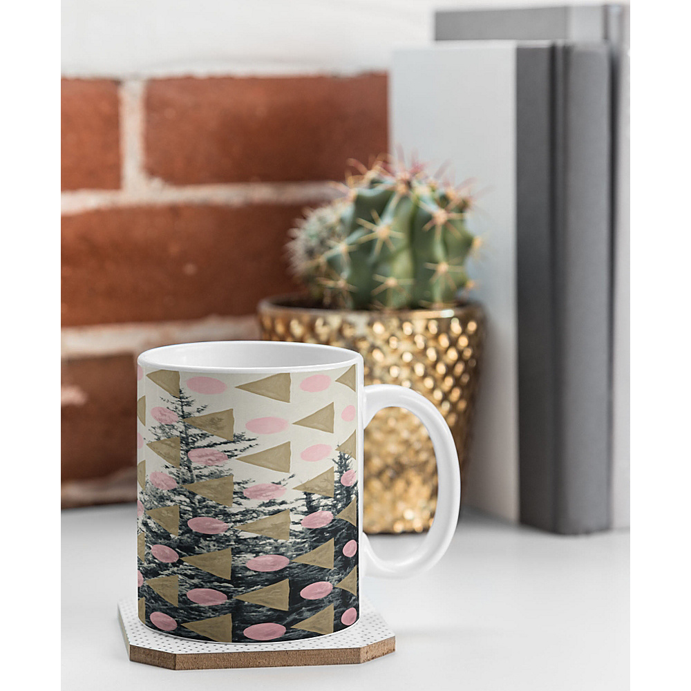 DENY Designs Maybe Sparrow Photography Coffee Mug Baby Pink Through the Geometric Trees DENY Designs Outdoor Accessories
