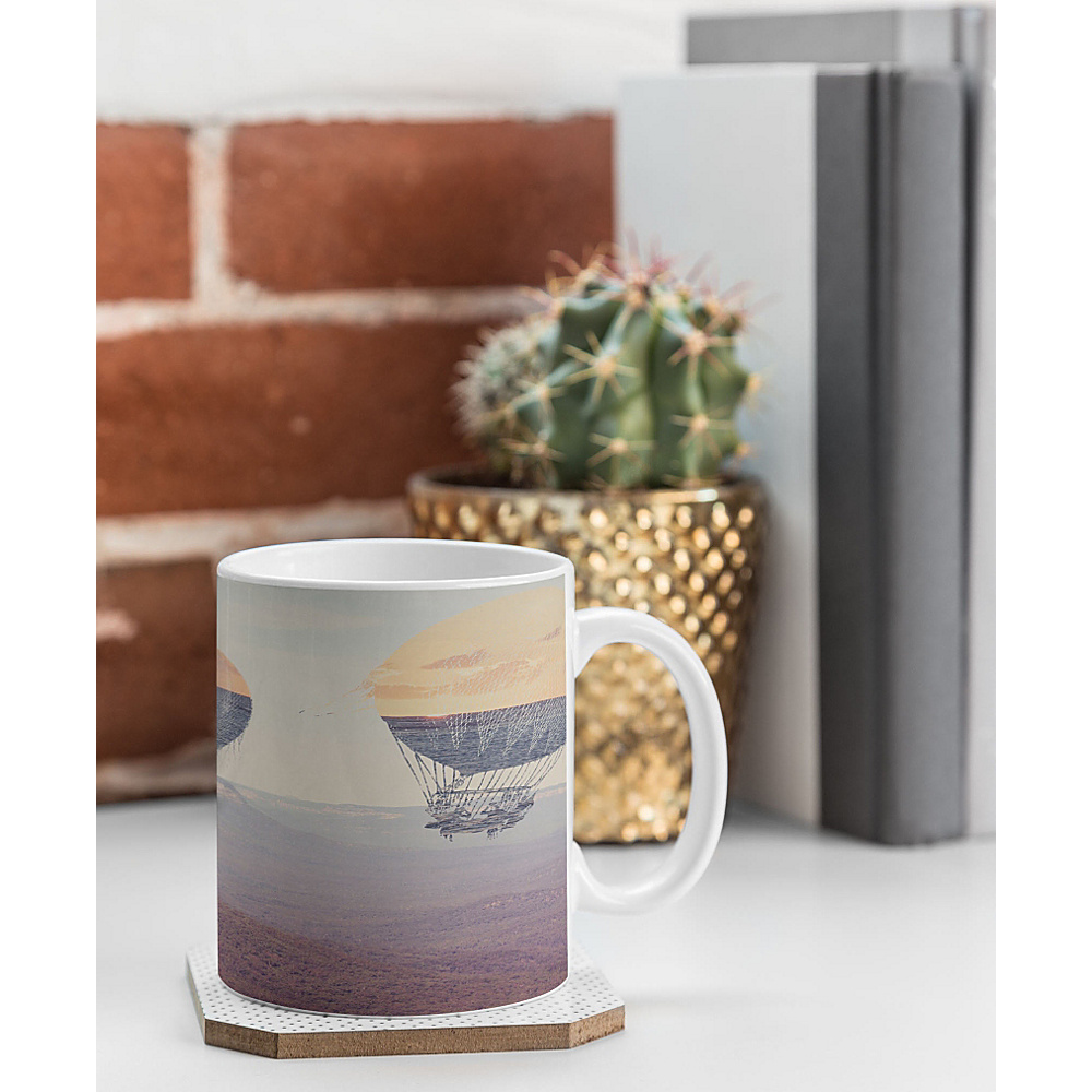DENY Designs Maybe Sparrow Photography Coffee Mug Desert Canyon Balloons DENY Designs Outdoor Accessories