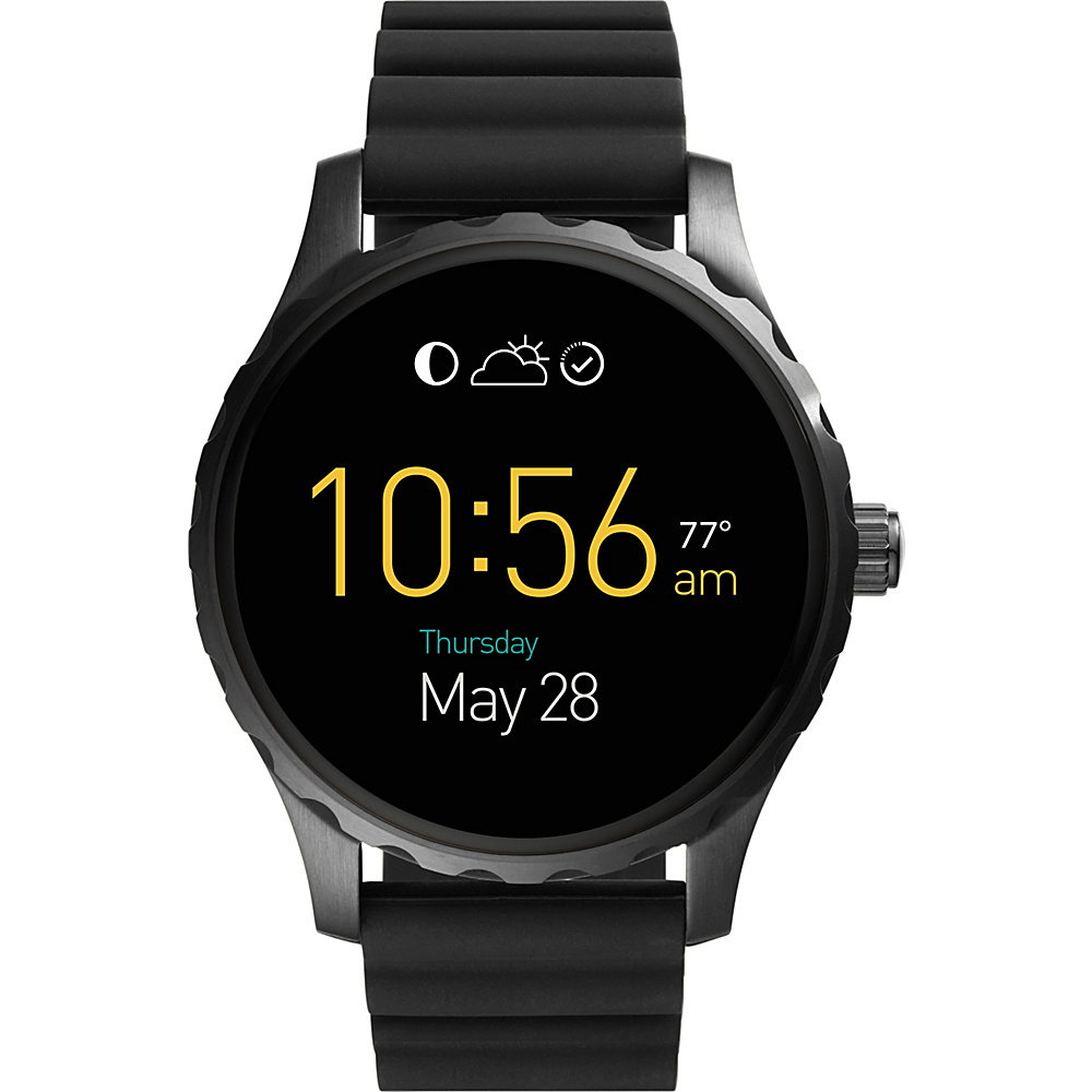 Fossil Q Marshal Digital Display Silicone Touchscreen Smartwatch Black - Fossil Wearable Technology - Technology, Wearable Technology