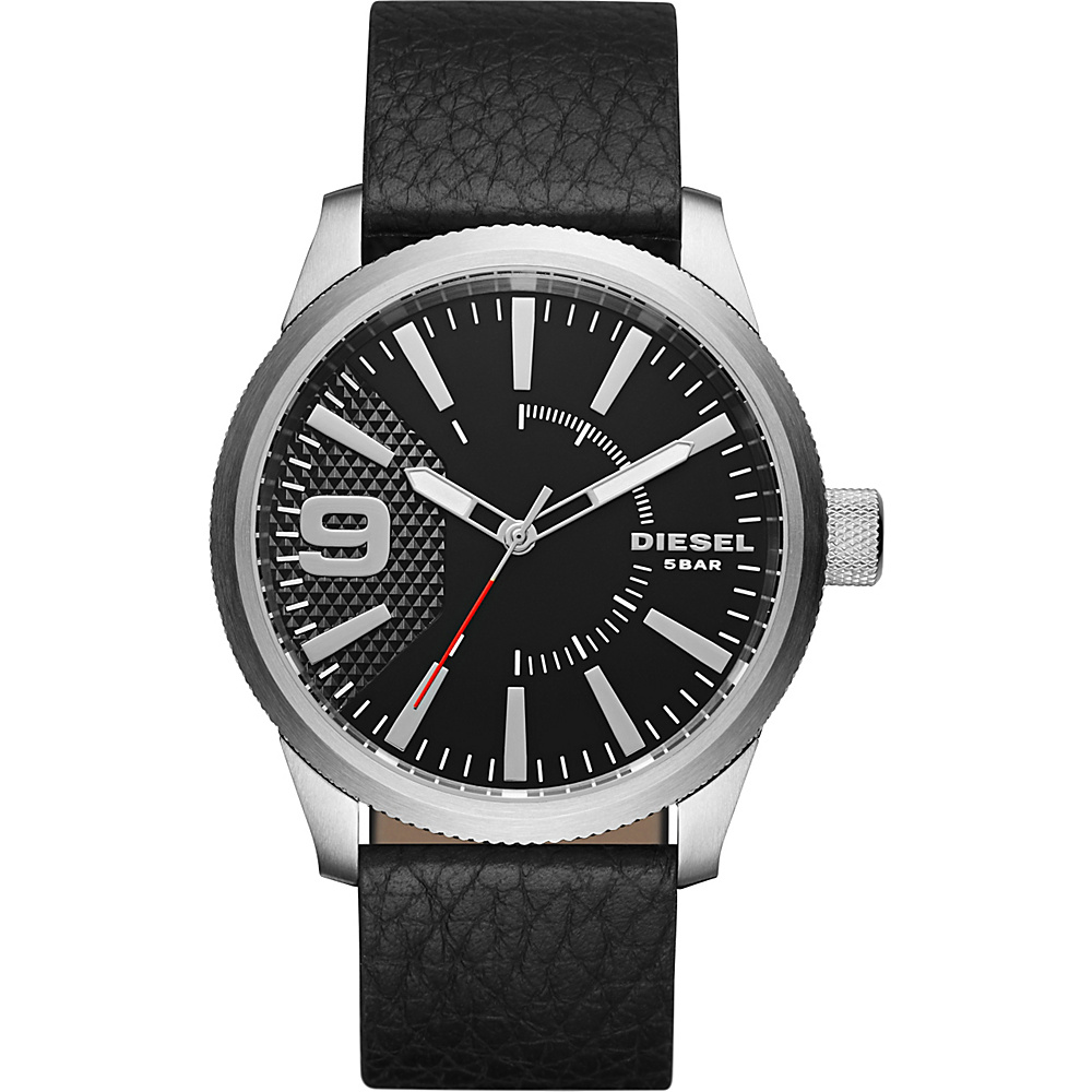 Diesel Watches Rasp Leather Watch Black Diesel Watches Watches
