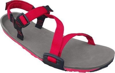 Xero Shoes Umara Z-Trail  Womens Ultimate Trail-Friendly Sandal 5 - Coal Black / Charcoal / Red Pepper - Xero Shoes Women's Footwear