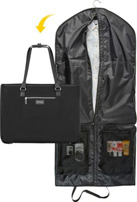 Image of biaggi Biaggi Hangeroo Garment Bag and Tote Black - biaggi Luggage Totes and Satchels