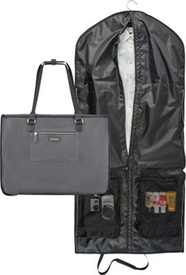 Image of biaggi Biaggi Hangeroo Garment Bag and Tote Grey - biaggi Luggage Totes and Satchels