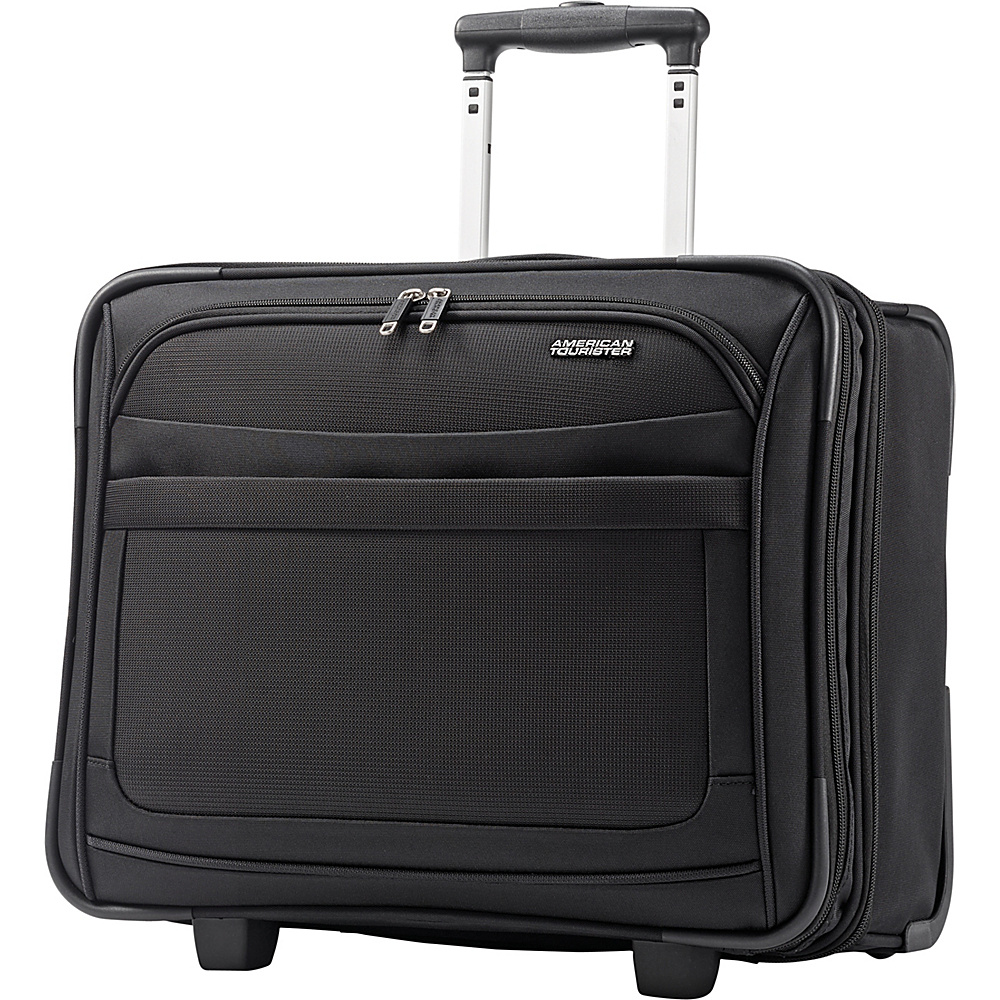 American Tourister iLite Max Wheeled Boarding Bag Black - American Tourister Softside Carry-On