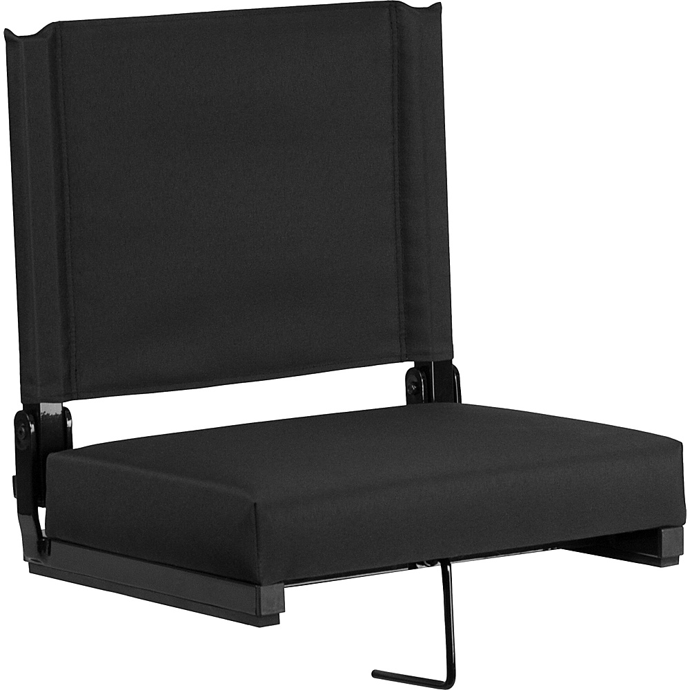 Flash Furniture Game Day Seats By Flash With Ultra Padded Seat Black Flash Furniture Sports Accessories