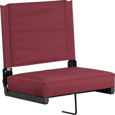 Flash Furniture Game Day Seats by Flash with Ultra-Padded Seat Maroon - Flash Furniture Sports Accessories