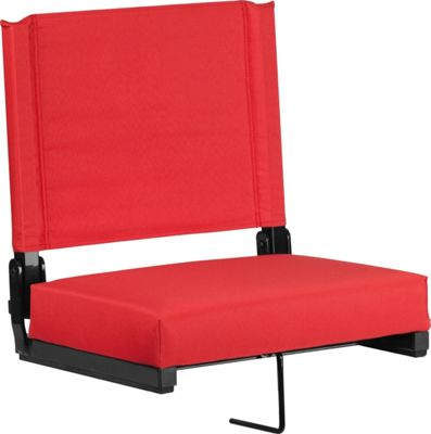 Flash Furniture Game Day Seats by Flash with Ultra-Padded Seat Red - Flash Furniture Sports Accessories