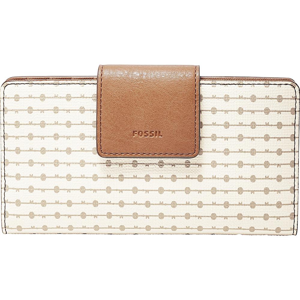 Fossil Emma RFID PVC Tab Clutch Grey Stripe - Fossil Designer Handbags - Handbags, Designer Handbags