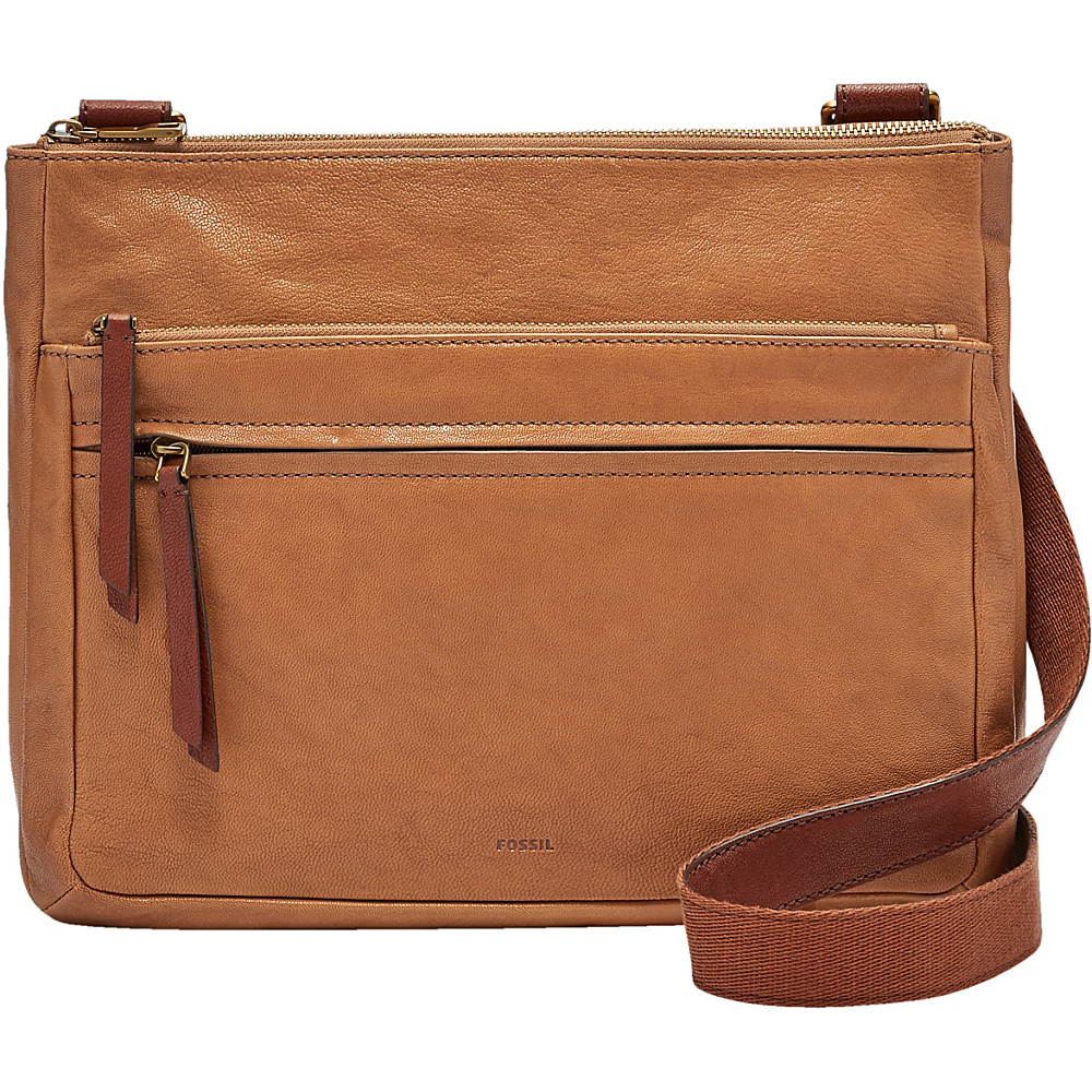 Fossil Corey Large Crossbody Camel - Fossil Leather Handbags - Handbags, Leather Handbags