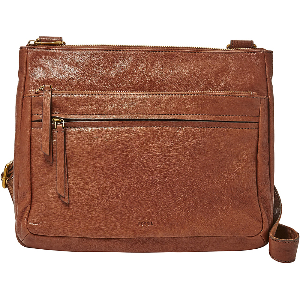 Fossil Corey Large Crossbody Brown - Fossil Leather Handbags - Handbags, Leather Handbags