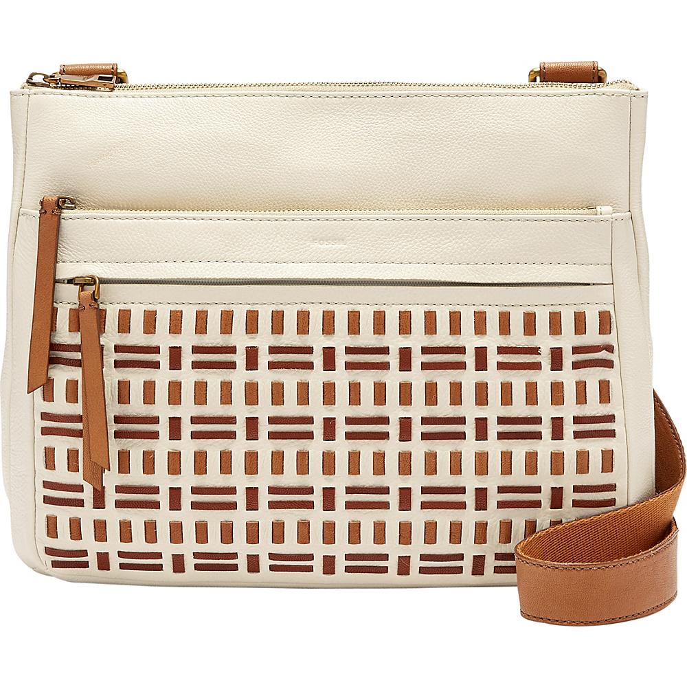 Fossil Corey Large Crossbody Vanilla - Fossil Leather Handbags - Handbags, Leather Handbags