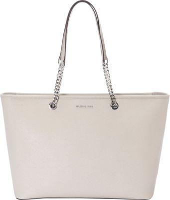 MICHAEL Michael Kors Jet Set Travel Chain Medium Top Zip Multifunction Tote Cement - MICHAEL Michael Kors Designer Handbags