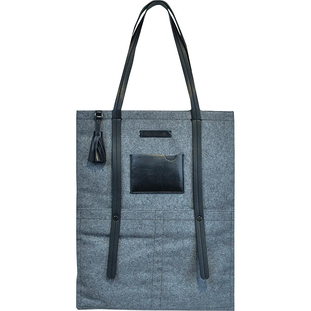 Sherpani Hadley Tote Boiled Wool Slate Sherpani Fabric Handbags