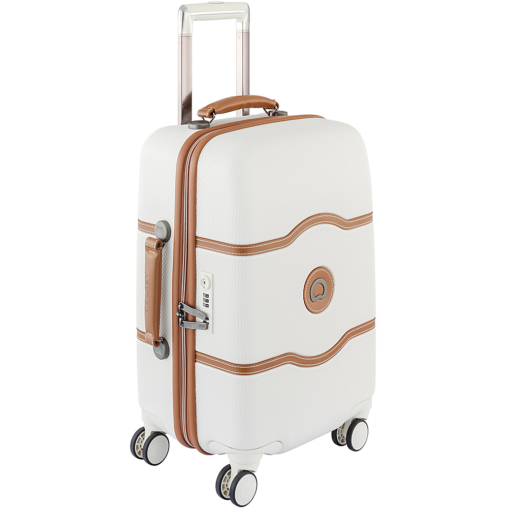Delsey Chatelet Hard 21 4 Wheel Spinner Carry On Champagne Delsey Hardside Carry On