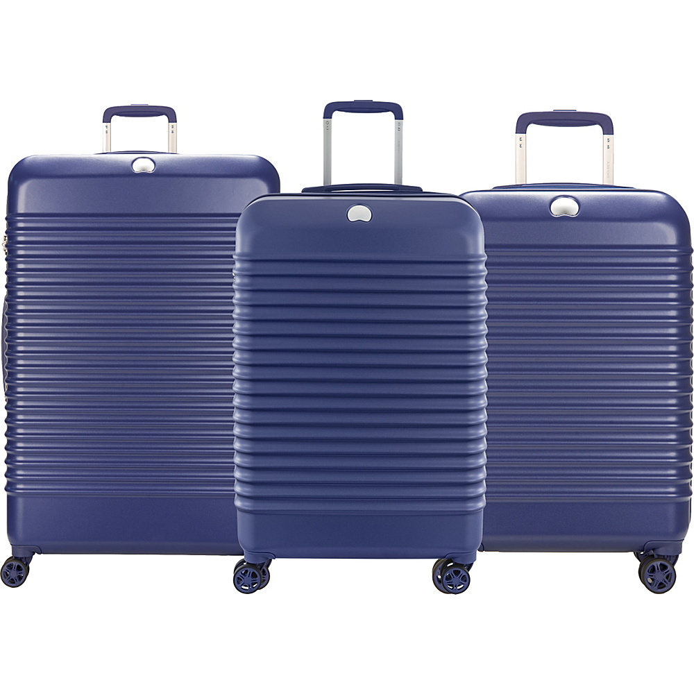 Delsey Bastille Lite Expandable 4 Wheel Spinner Luggage Set Blue - Delsey Luggage Sets