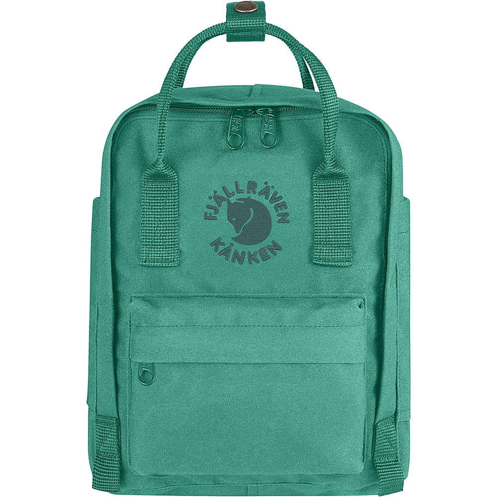 Fjallraven Re-Kanken Mini Backpack Emerald - Fjallraven Everyday Backpacks - Backpacks, Everyday Backpacks