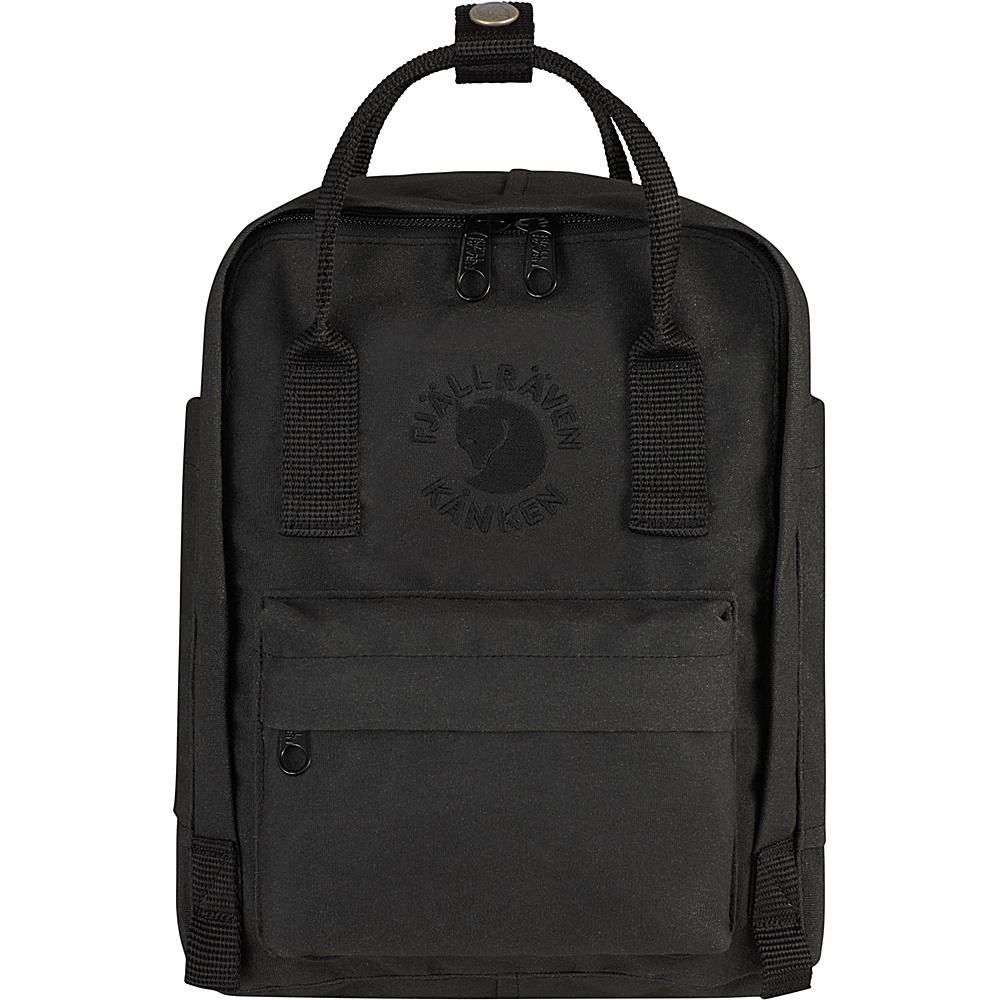 Fjallraven Re-Kanken Mini Backpack Black - Fjallraven Everyday Backpacks - Backpacks, Everyday Backpacks