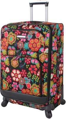 Lily Bloom 24 inch Exp Spinner Luggage Folky Floral - Lily Bloom Softside Checked