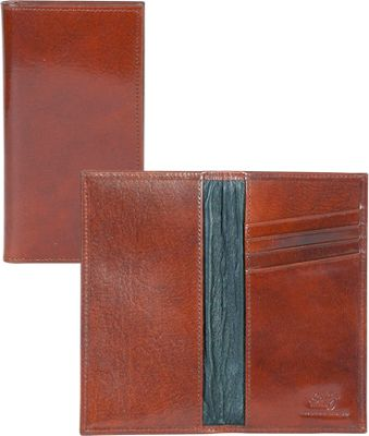 Scully Checkbook Cover Mahogany - Scully Men's Wallets