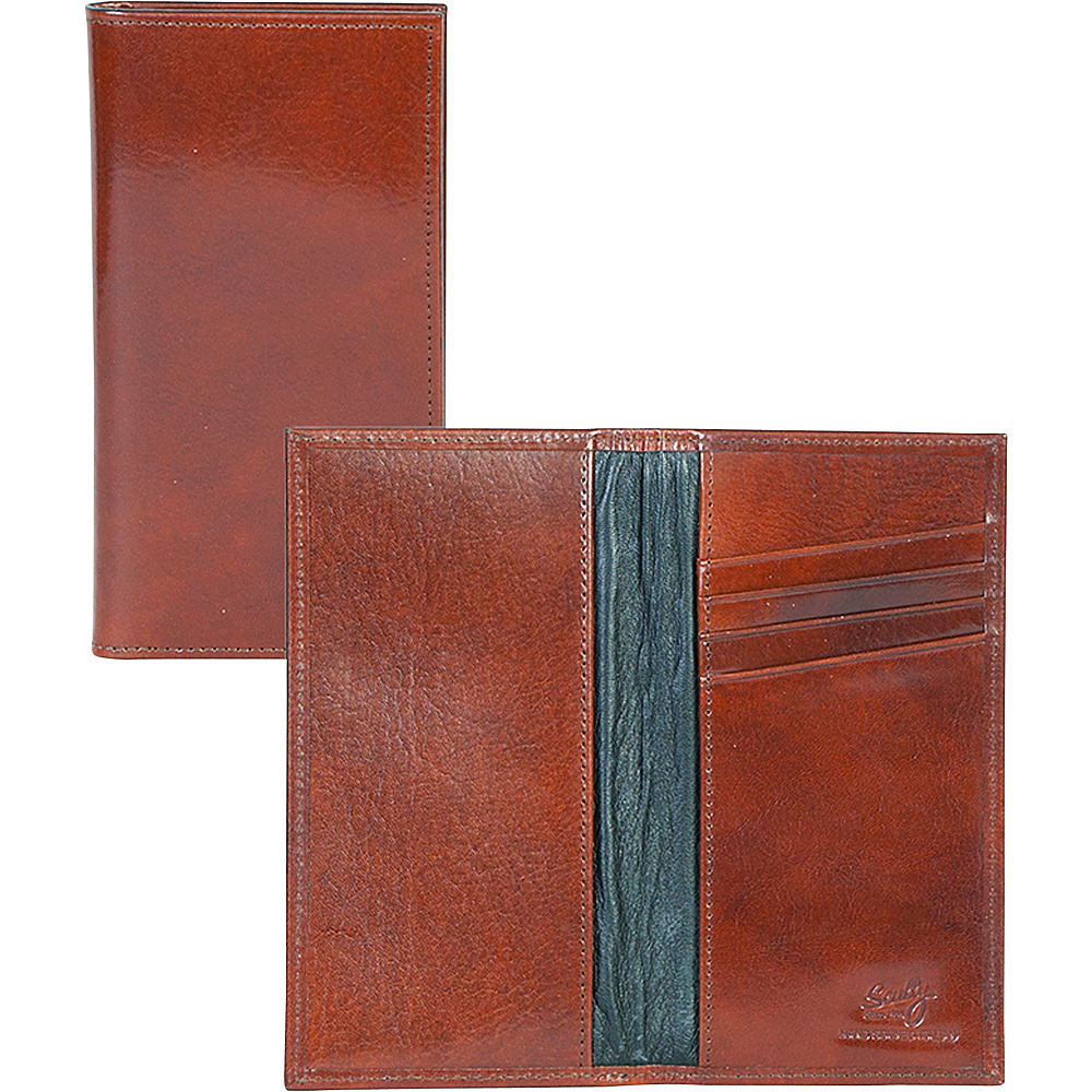 Scully Checkbook Cover Mahogany Scully Men s Wallets