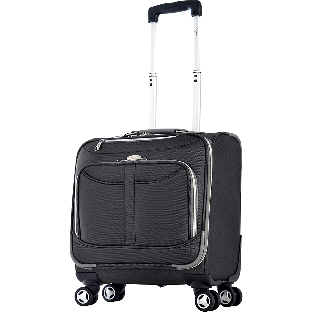 Olympia Tuscany Overnighter Black Olympia Wheeled Business Cases