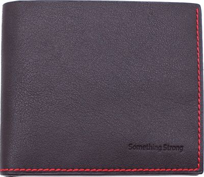Something Strong Slim Vegan Leather Wallet Charcoal - Something Strong Men's Wallets