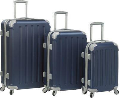 Dejuno Neato 3-Piece Hardside Combination Lock Luggage Set Navy - Dejuno Luggage Sets