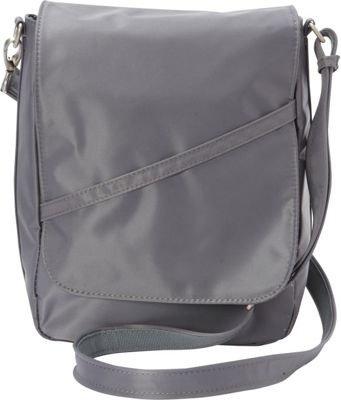 BeSafe by DayMakers RFID Large U-Shape LX Sling Pewter - BeSafe by DayMakers Fabric Handbags