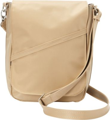BeSafe by DayMakers RFID Large U-Shape LX Sling Taupe - BeSafe by DayMakers Fabric Handbags