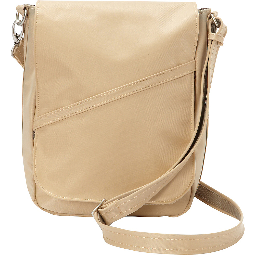 BeSafe by DayMakers RFID Large U Shape LX Sling Taupe BeSafe by DayMakers Fabric Handbags