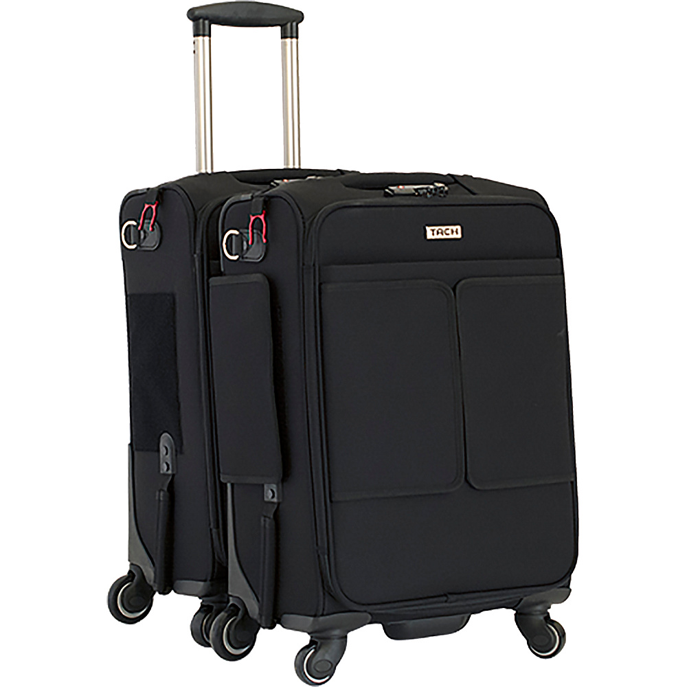TACH Luggage 2 Piece Connecting Carry-on Black - TACH Luggage Luggage Sets