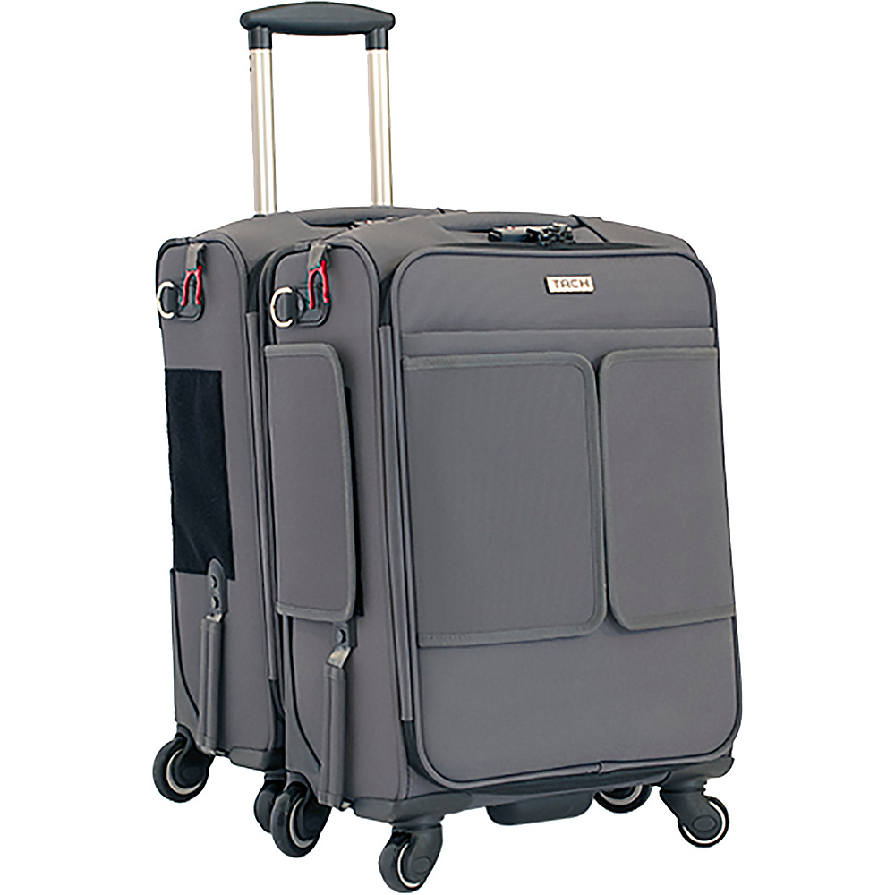 TACH Luggage 2 Piece Connecting Carry-on Grey - TACH Luggage Luggage Sets