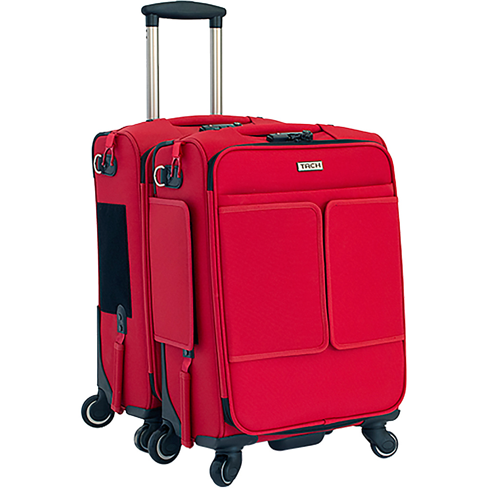 TACH Luggage 2 Piece Connecting Carry-on Red - TACH Luggage Luggage Sets