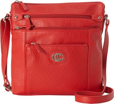 Aurielle-Carryland Contempo N/S Crossbody Red - Aurielle-Carryland Manmade Handbags