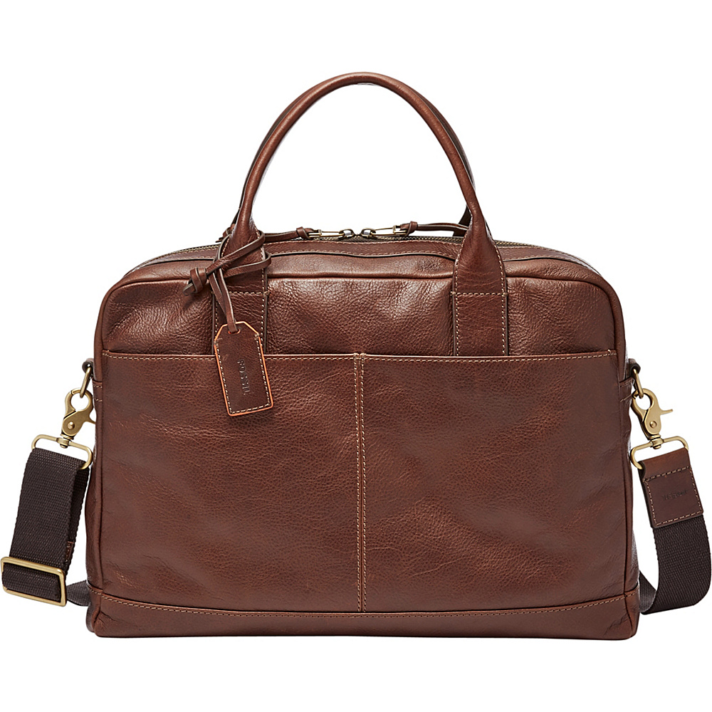 Fossil Defender Workbag Brown - Fossil Other Mens Bags - Work Bags & Briefcases, Other Men's Bags