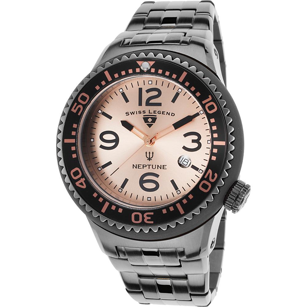 Swiss Legend Watches Neptune Force Stainless Steel Watch Gunmetal/Rose Gold/Black - Swiss Legend Watches Watches