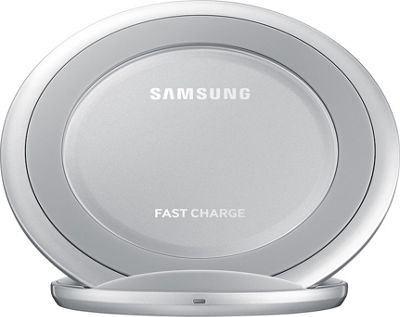 Samsung - C2 Wireless Charging Pad Stand AFC Silver - Samsung - C2 Portable Batteries & Chargers