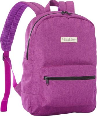 T-shirt & Jeans Purple School Backpack Purple - T-shirt & Jeans Everyday Backpacks