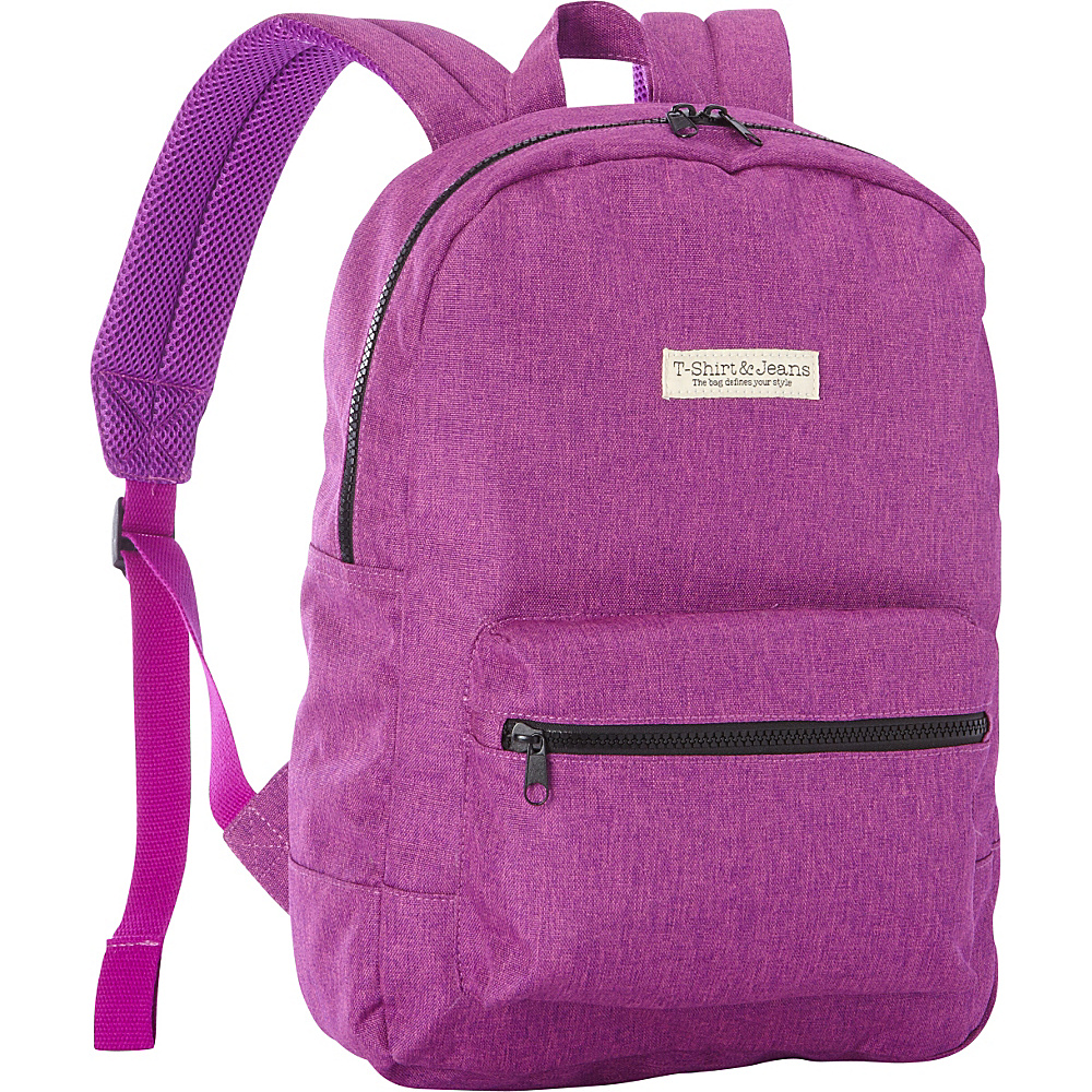 T shirt Jeans Purple School Backpack Purple T shirt Jeans Everyday Backpacks