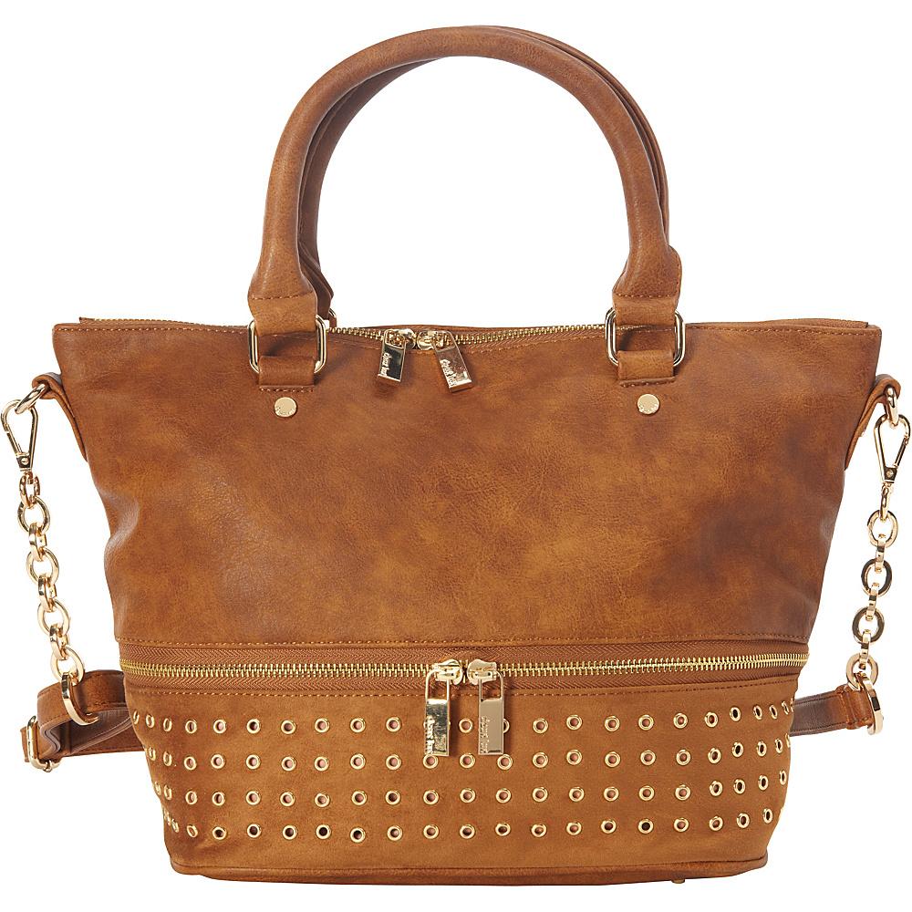 deux lux Patina Satchel Cognac deux lux Manmade Handbags