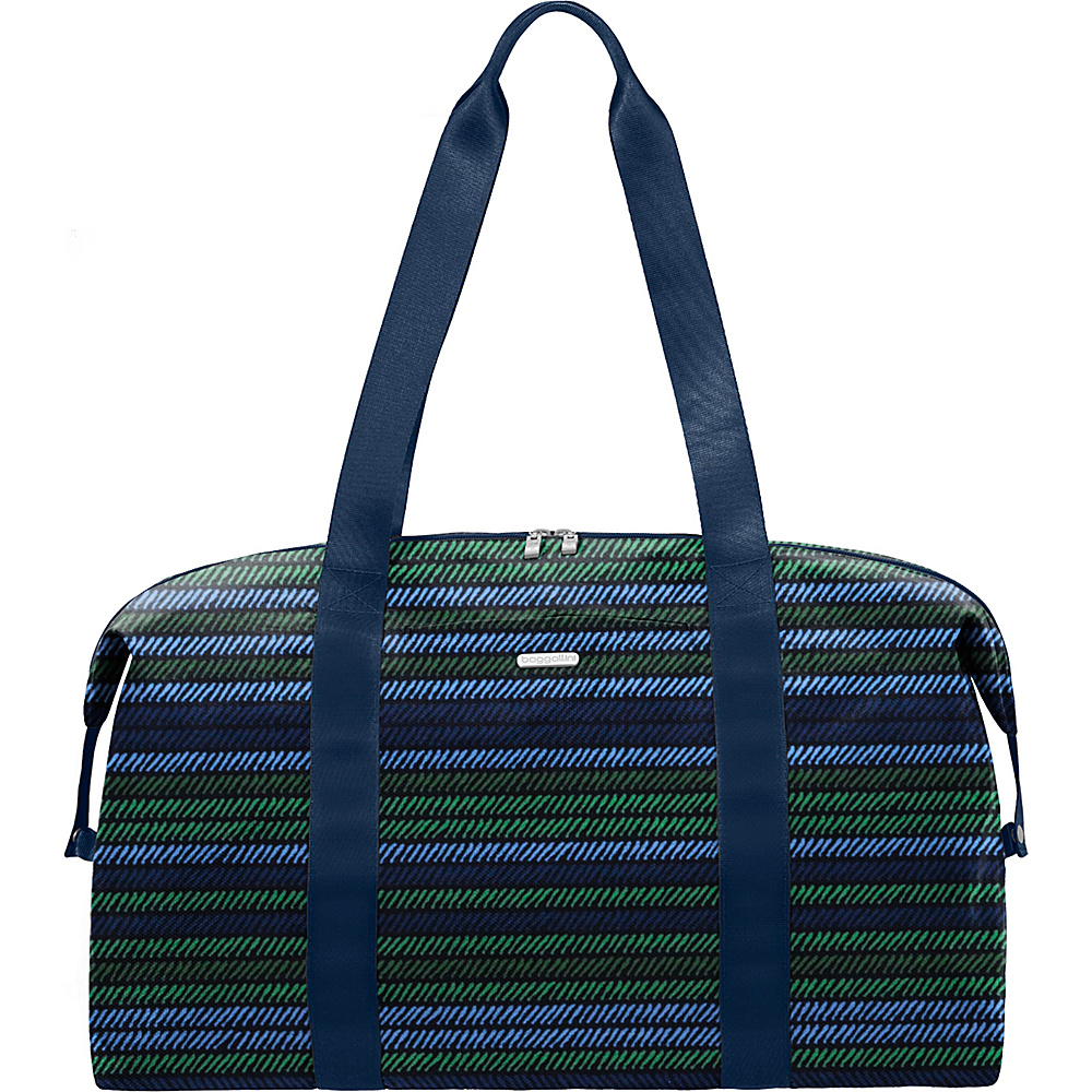 baggallini Large Travel Duffel Moss Stripe Multi - baggallini Travel Duffels - Duffels, Travel Duffels