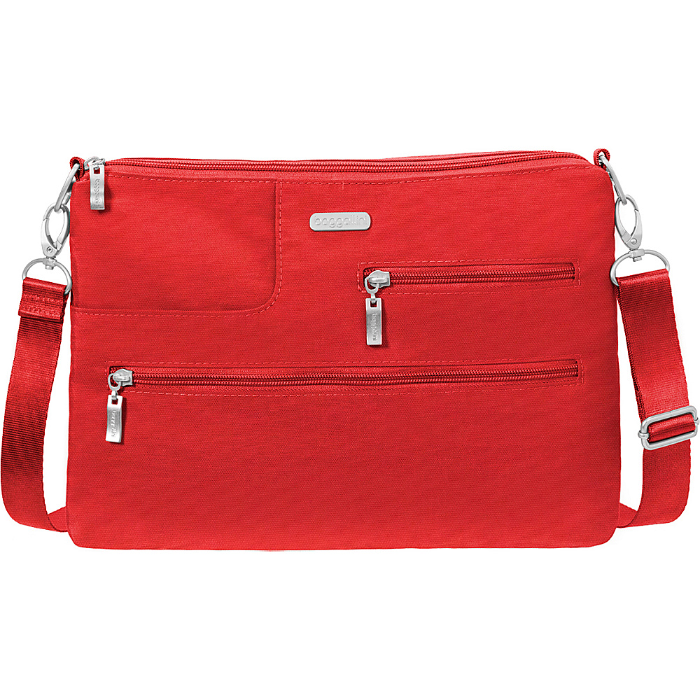 baggallini Tablet Crossbody with RFID Hibiscus - baggallini Fabric Handbags - Handbags, Fabric Handbags
