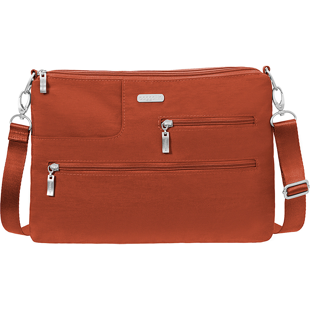 baggallini Tablet Crossbody with RFID Adobe - baggallini Fabric Handbags - Handbags, Fabric Handbags